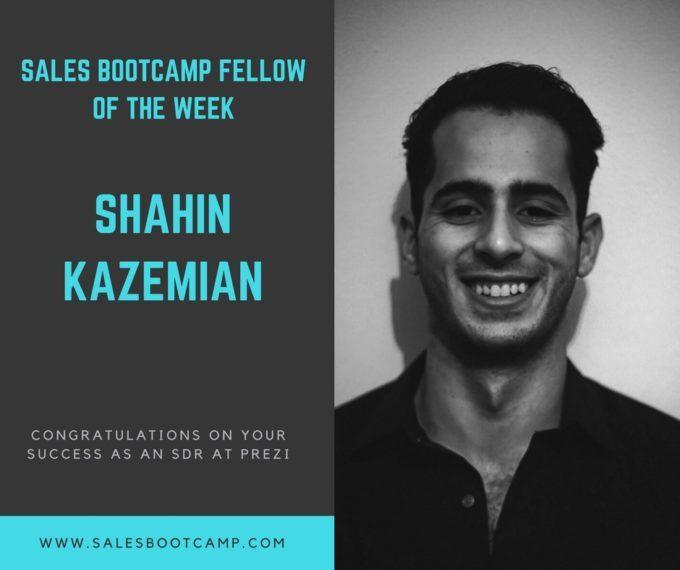 Fellow Of The Week: Shahin Kazemian