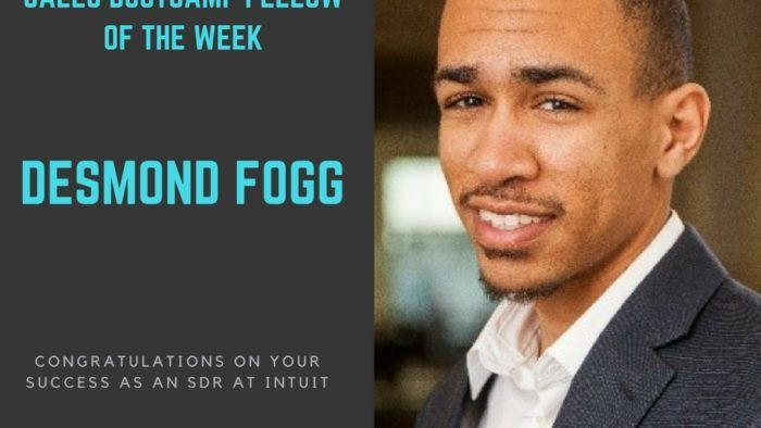 sales bootcamp fellow of the week 4