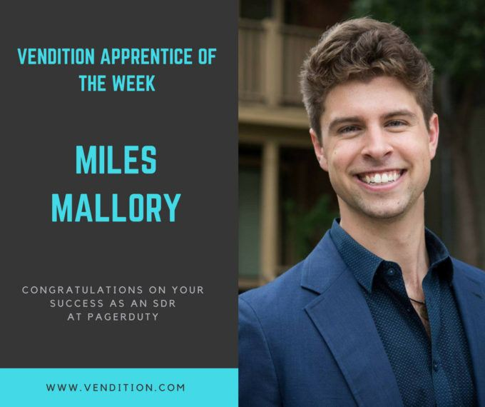 Apprentice Of The Week: Miles Mallory