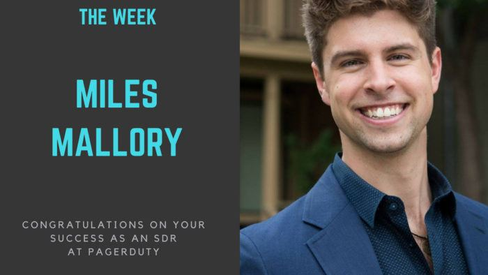 sales bootcamp fellow of the week 3