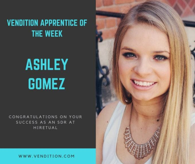 Apprentice Of The Week: Ashley Gomez
