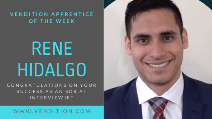 Apprentice Of The Week: Rene Hidalgo