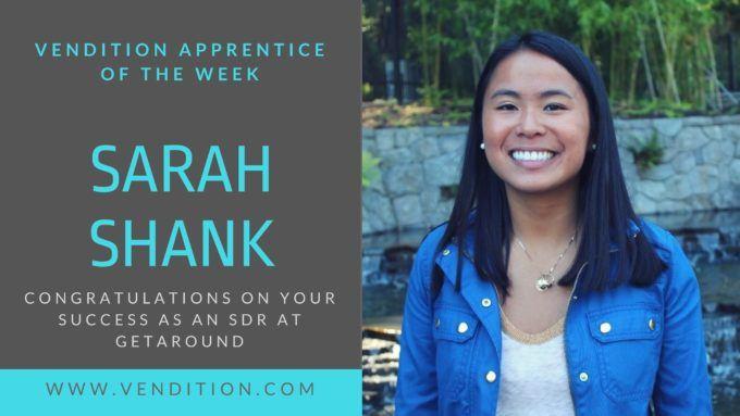 Apprentice Of The Week: Sarah Shank