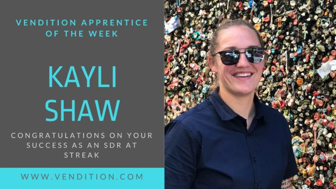 Apprentice Of The Week: Kayli Shaw
