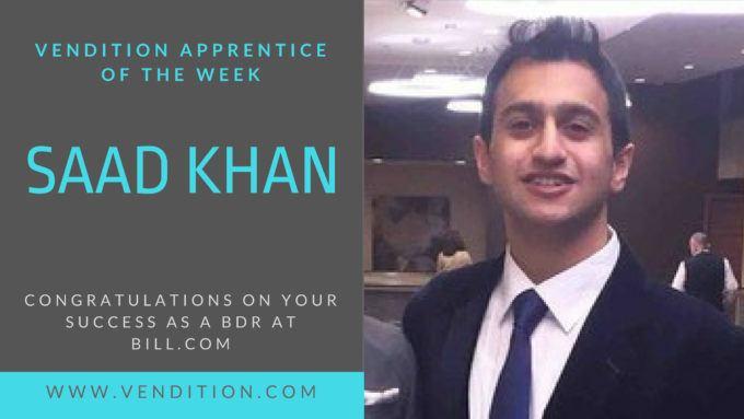 Apprentice Of The Week: Saad Khan