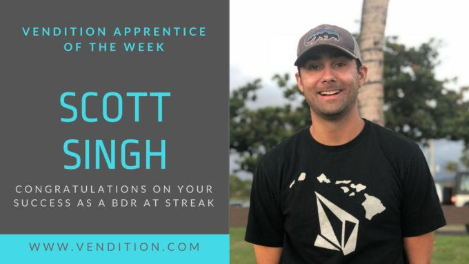 Apprentice Of The Week: Scott Singh