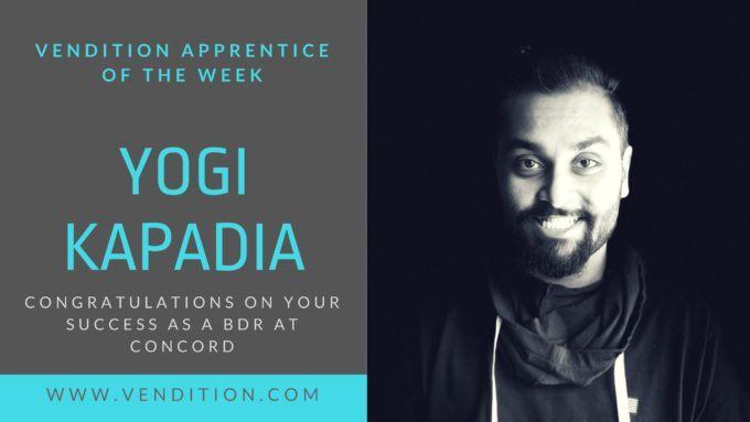 Apprentice Of The Week: Yogi Kapadia