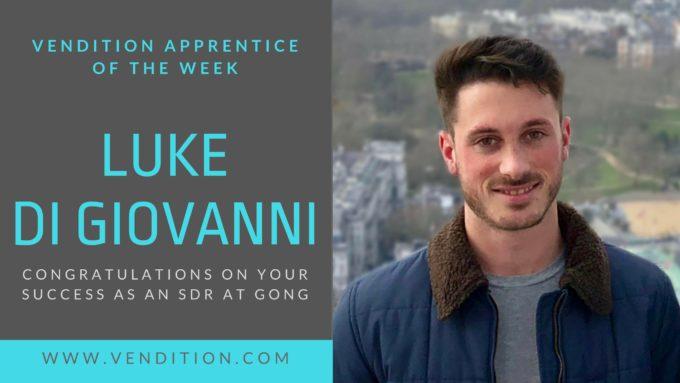 Apprentice Of The Week: Luke Di Giovanni