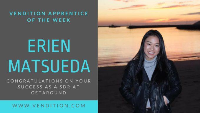 Apprentice Of The Week: Erien Matsueda