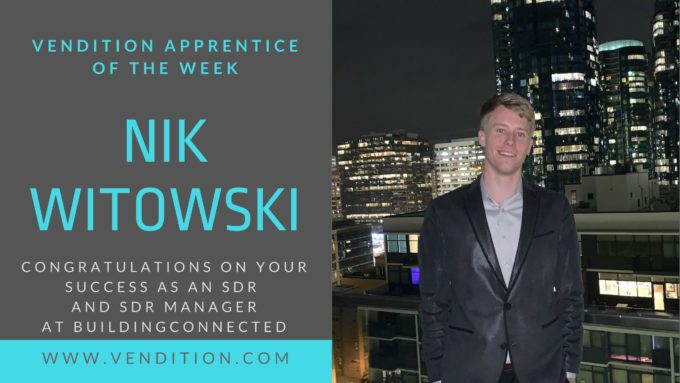 Apprentice Of The Week: Nik Witowski