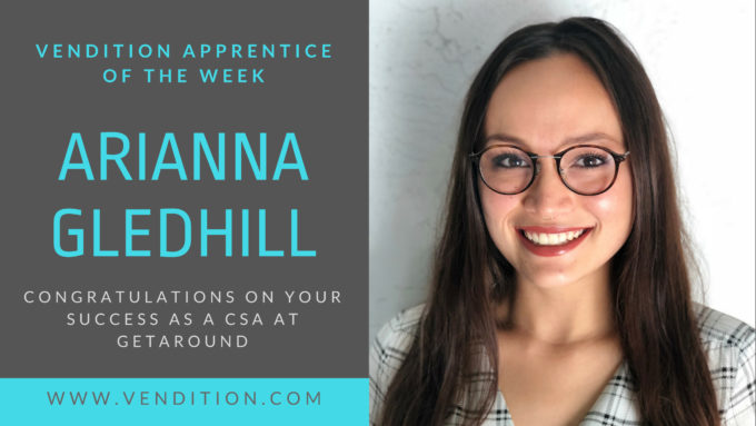 Apprentice Of The Week: Arianna Gledhill