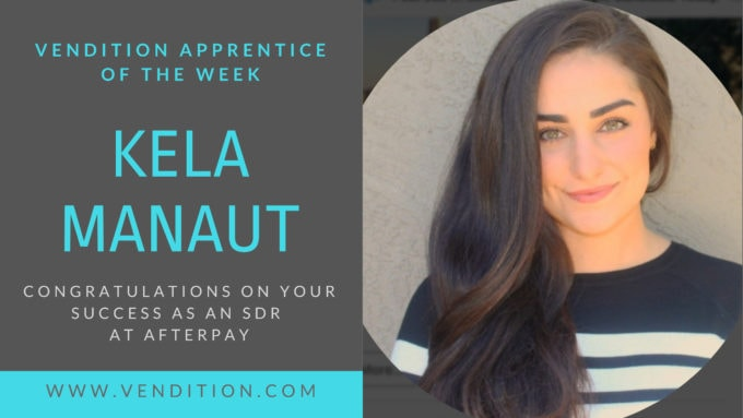 Apprentice Of The Week: Kela Manaut