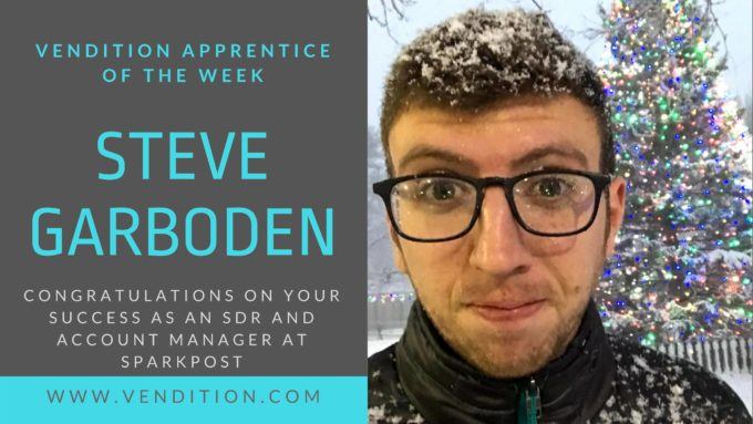 Apprentice Of The Week: Steve Garboden