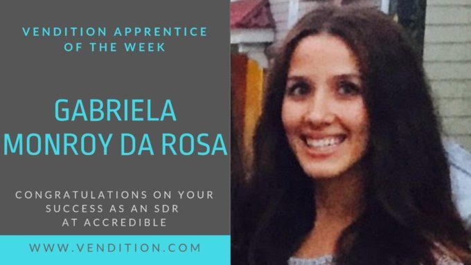 Apprentice Of The Week: Gabriela Monroy Da Rosa