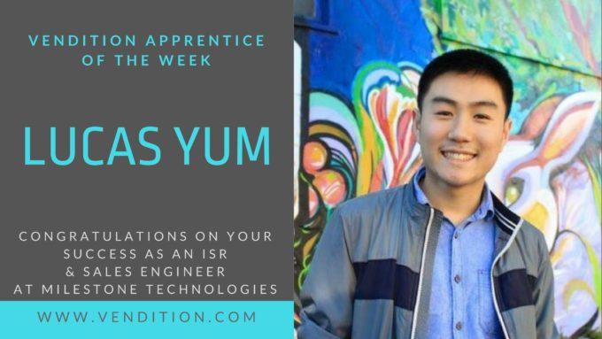 Apprentice Of The Week: Lucas Yum
