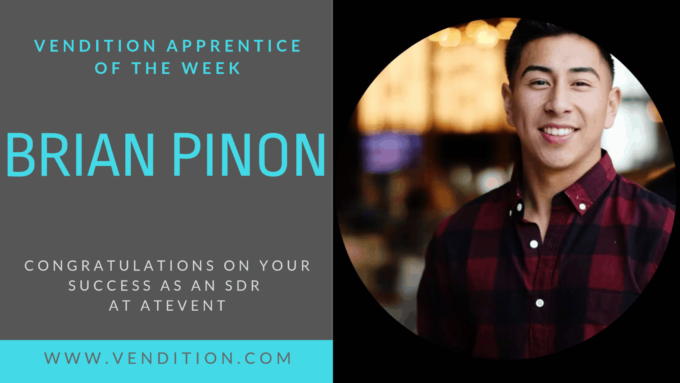 Apprentice Of The Week: Brian Pinon