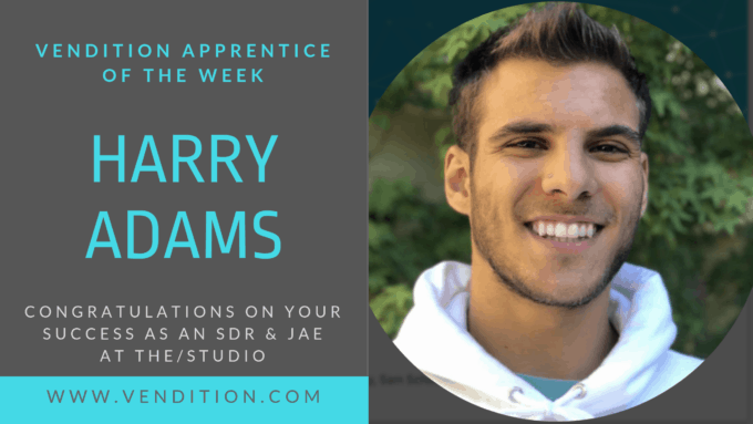 Apprentice Of The Week: Harry Adams