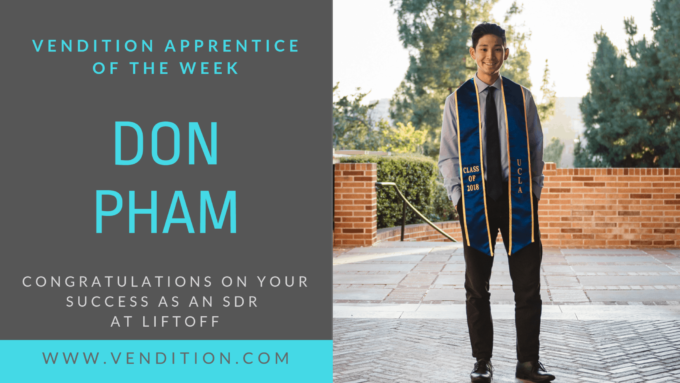 Apprentice Of The Week: Don Pham