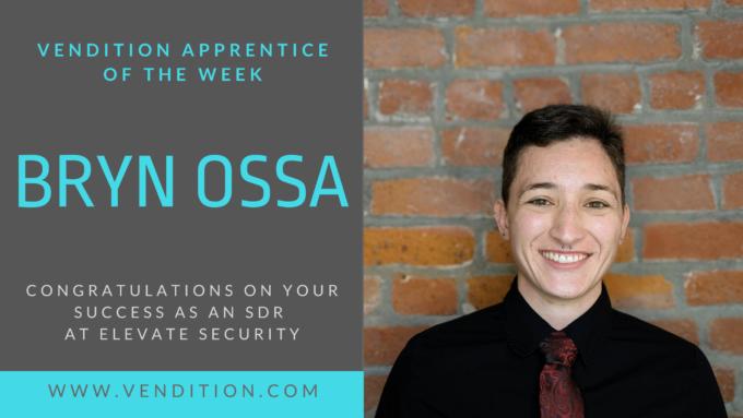 Apprentice Of The Week: Bryn Ossa