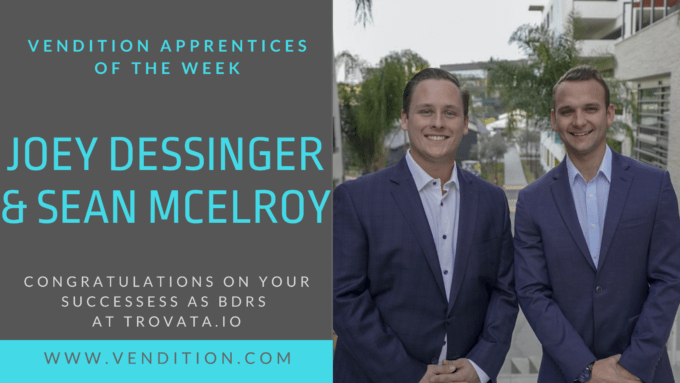 Apprentices Of The Week: Joey Dessinger And Sean McElroy