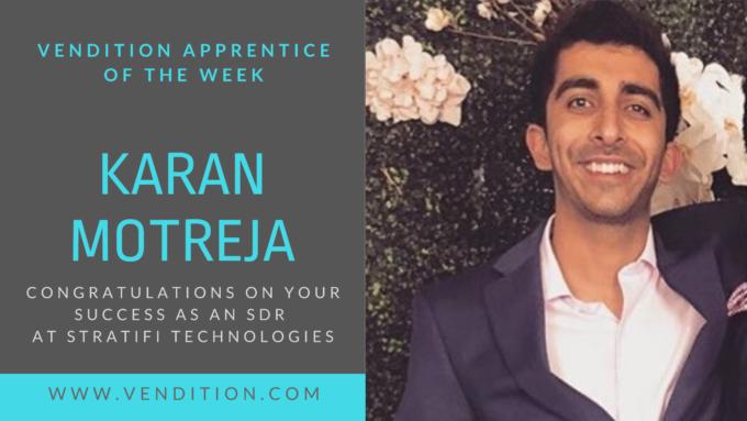 Apprentice Of The Week: Karan Motreja