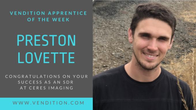 Apprentice Of The Week: Preston Lovette