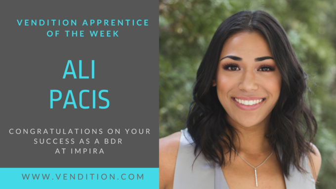 Apprentice Of The Week: Ali Pacis